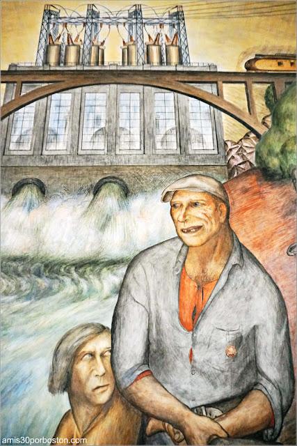 "Mural ""California Industrial Scenes"" de John Langley Howard en la Torre Coit de San Francisco"
