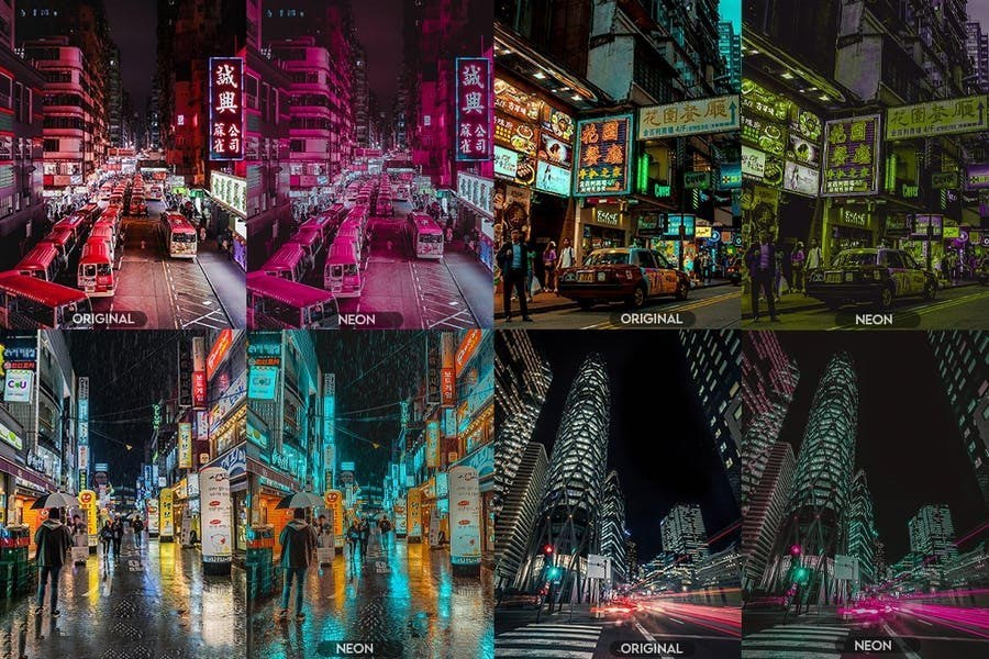 Neon Pro Photoshop Actions (ATN) -Ngcloudy.com