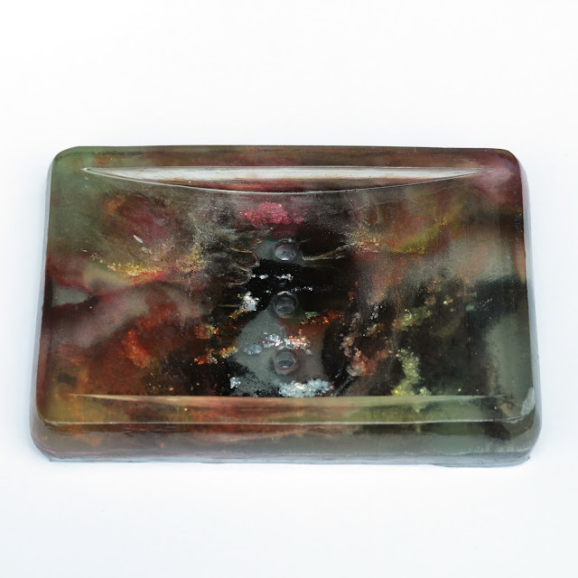 The Soapy Chef Handmade Resin Soap Dish and Soap Sample