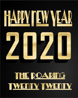 Happy new year 2020 golden 3D text greetings