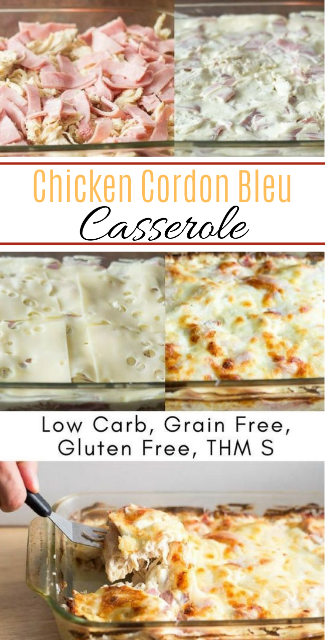 Chicken Cordon Bleu Casserole #lowcarb #healthy