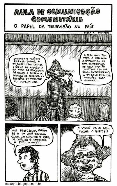 Tira sobre educação, por Cesar Andrade