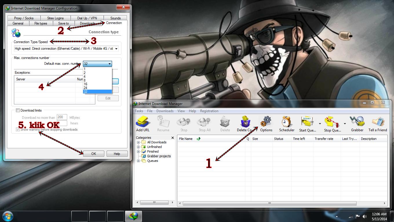 Setting untuk Cara Mempercepat Download dengan IDM