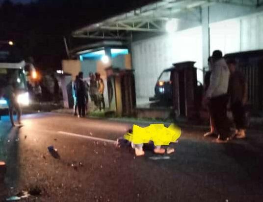 Gagal Menyalip Bus Sinar Jaya, Gadis Belik Tewas Di TKP