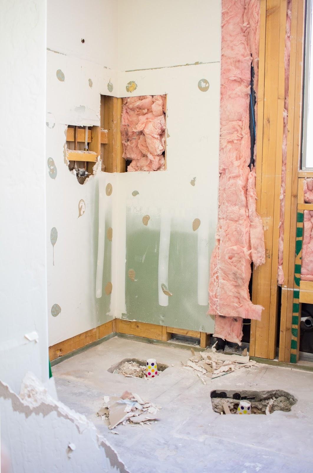 Lighting Basement Washroom Stairs: DIY Modern Master Bath Remodel