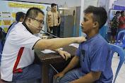 Belasan Sopir Di Terminal Bonea Benteng Selayar Cek Kesehatan Dan Tes Narkoba
