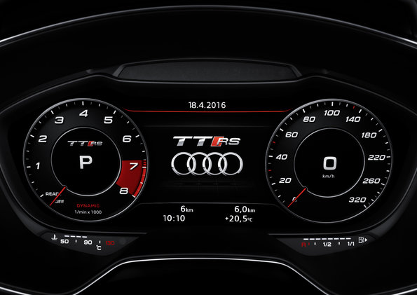 Audi Tt Rs Coupe Dash Lights 2017 Photos New Cars 2016 Images And Pics