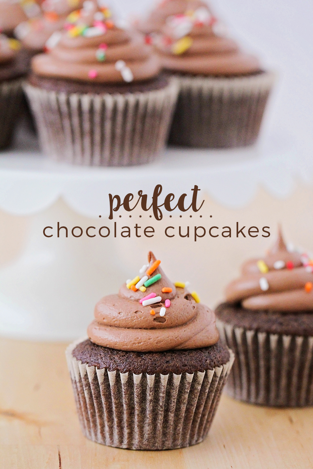 These best ever chocolate cupcakes are amazingly delicious! Tender, moist chocolate cake topped by a light and fluffy chocolate frosting. Perfect for birthdays and special occasions!