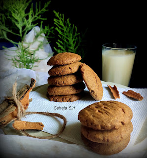 Ragi cinnamon cookies