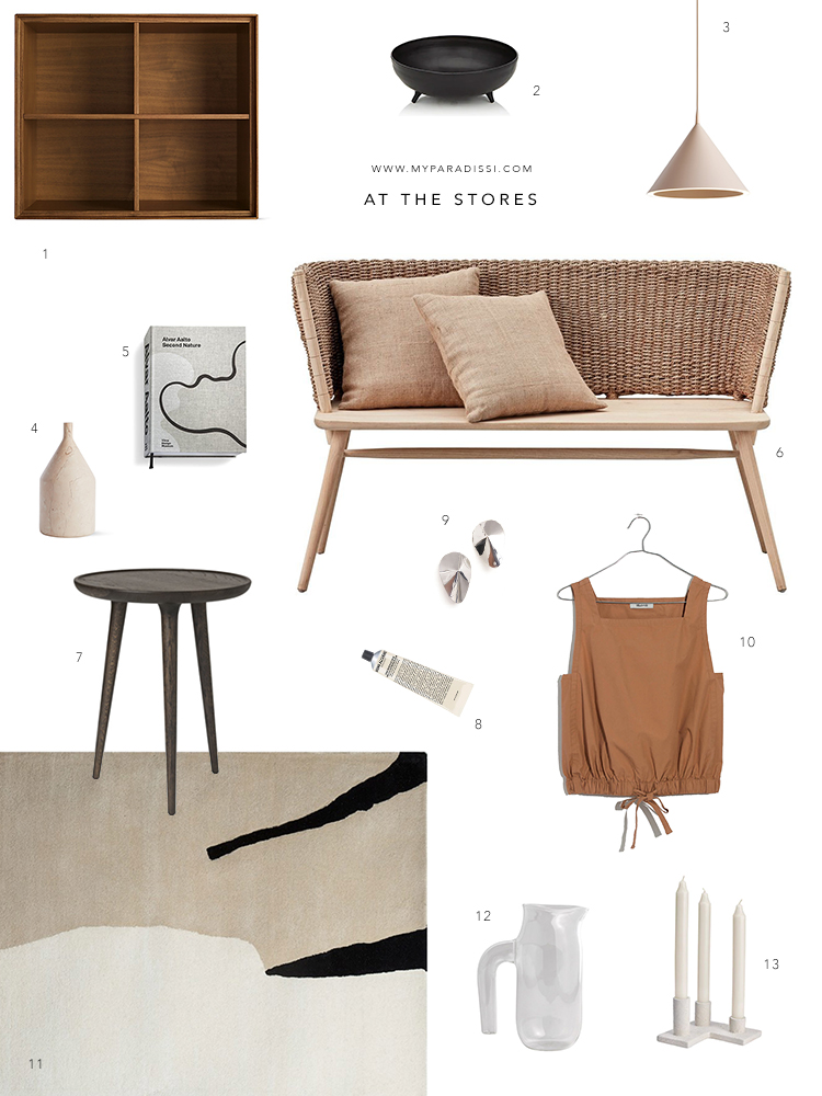 Shopping picks for a contemporary eclectic home curated by Eleni Psyllaki for My Paradissi