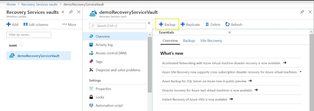 Backup - Recovery Services vaults