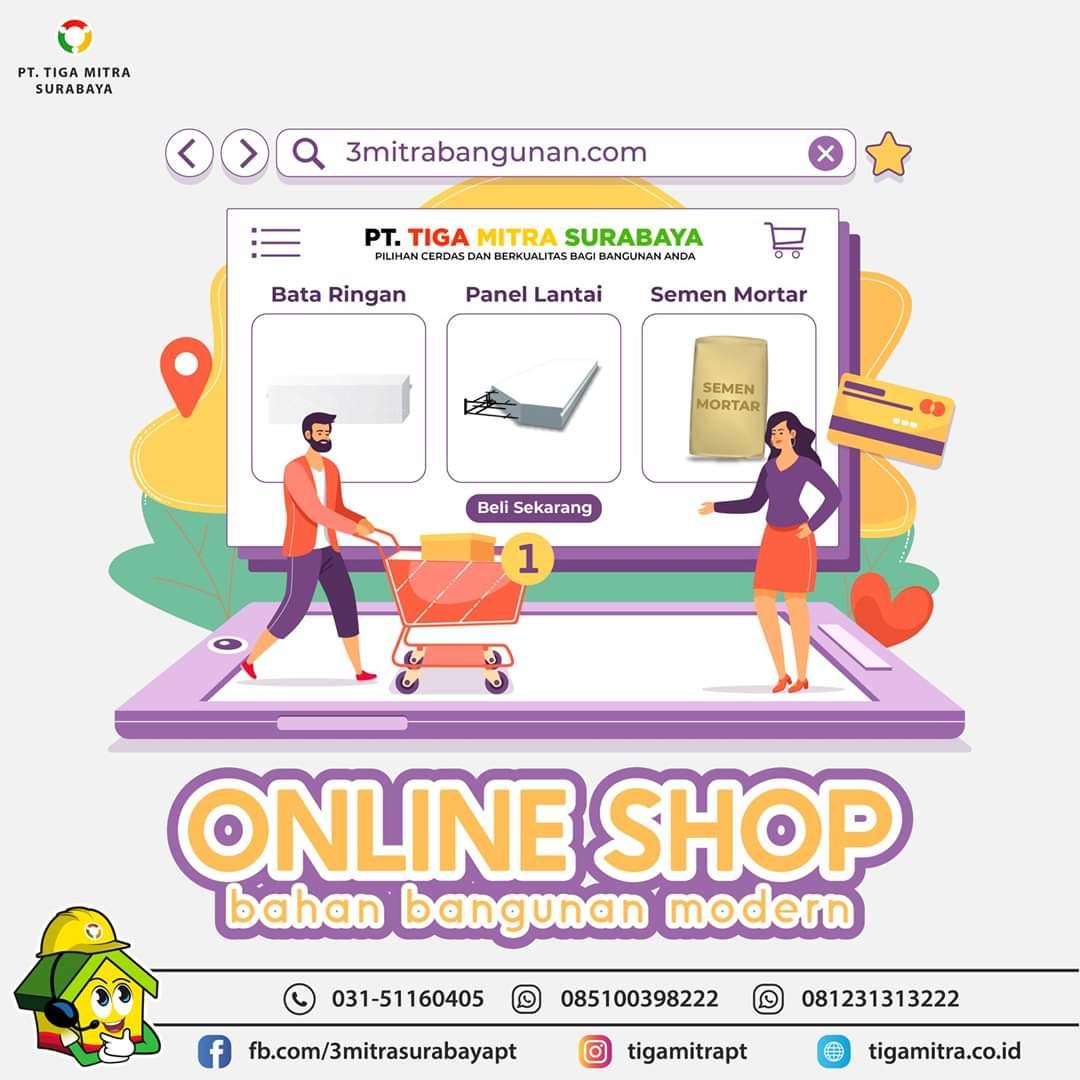 Toko Online 3 Mitra Surabaya, Sidoarjo, Gresik