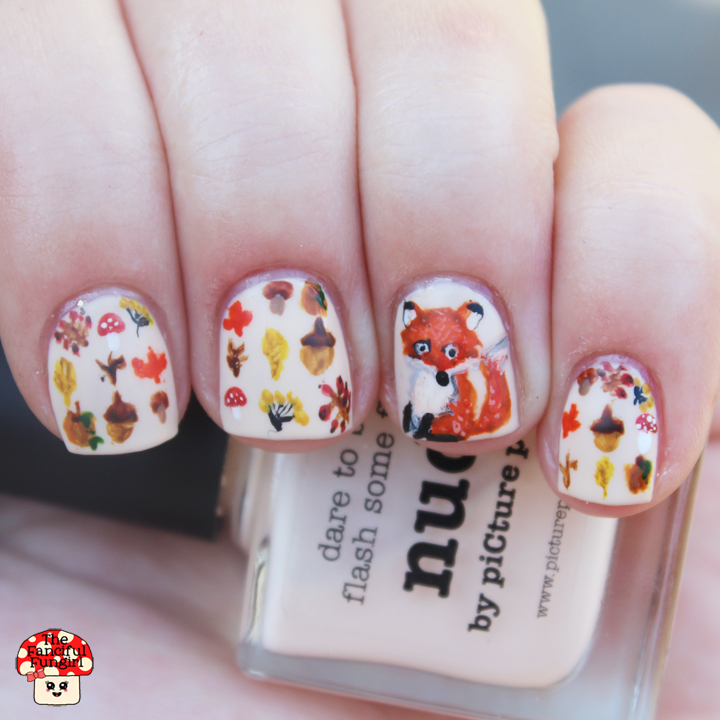 Guest Post Adorable Autumn Nail Art By Melissa Aka The Fanciful Fungirl Procrastinating Polishr