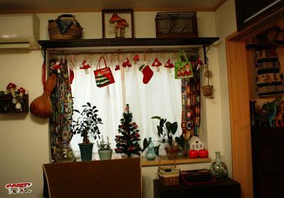 クリスマス部屋飾り