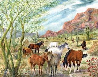 campos-y-corceles-pinturas-acuarelas vistas-rurales-y-corceles-pinturas