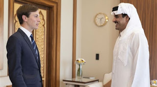 Qatar's Emir tells White House adviser that Doha supports a two-state solution with East Jerusalem to end the conflict with Israel
