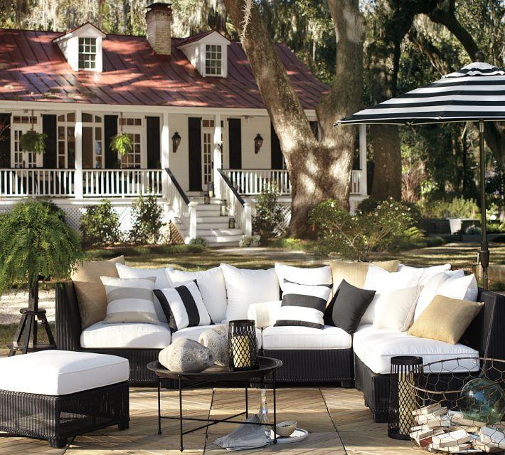the good stuff: BLACK & WHITE STRIPES on Black And White Backyard Decor id=76501