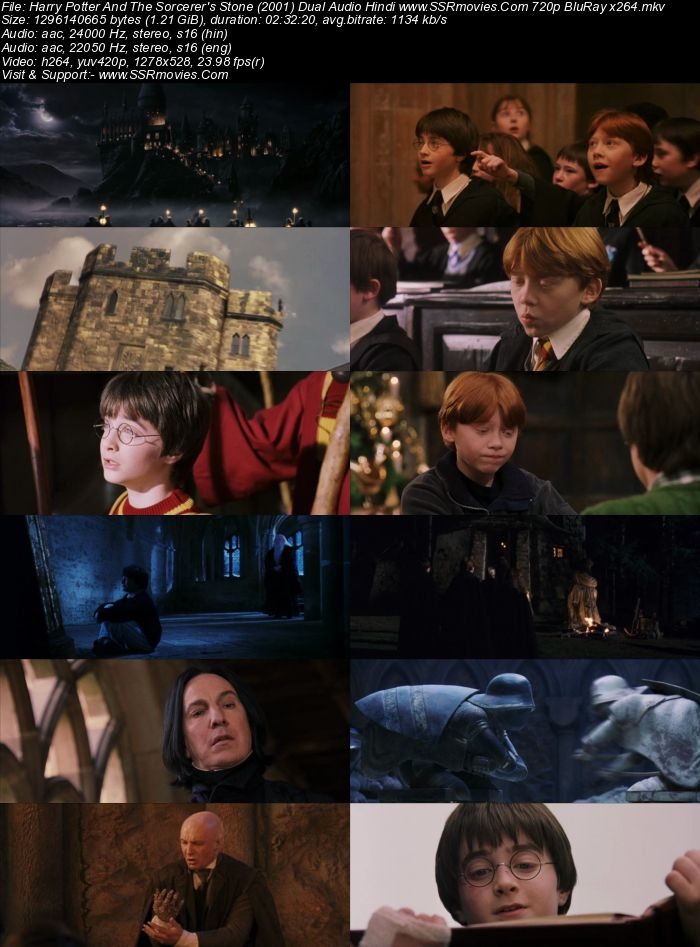 Harry Potter And The Sorcerer's Stone (2001) Dual Audio Hindi 720p BluRay Movie Download