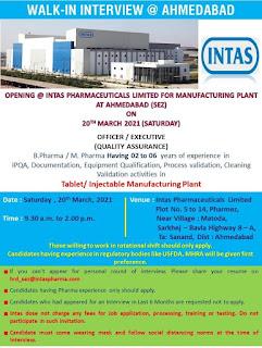 INTAS Pharma Walk in