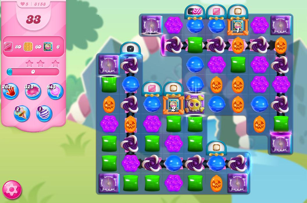 Candy Crush Saga level 8158
