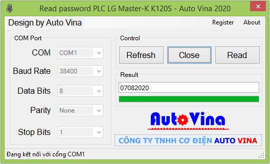 Phần mềm mở khóa PLC LS Master-K120S