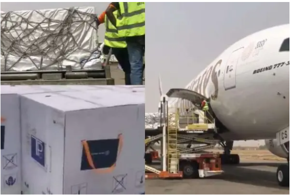 First batch of COVID-19 vaccine lands in Abuja, Nigeria