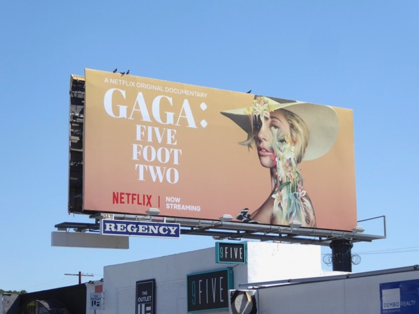 Gaga Five Feet Two documentary billboard