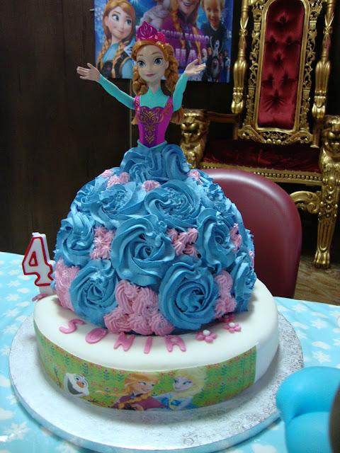 Anna and Elsa Disney Frozen torta di compleanno bimba