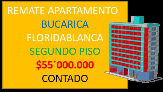 VENTA REMATE APARTAMENTO BUCARICA FLORIDABLANCA COLOMBIA