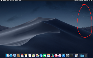 Mojave with hidden desktop