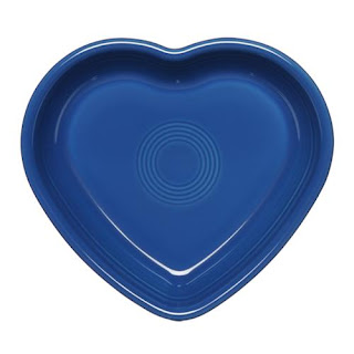 fiesta heart-shaped plate