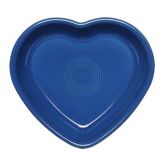 fiesta heart-shaped plate