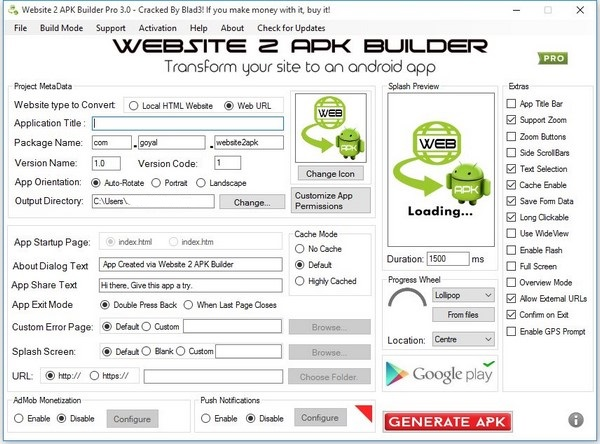 website 2 apk builder 2.3 activation key