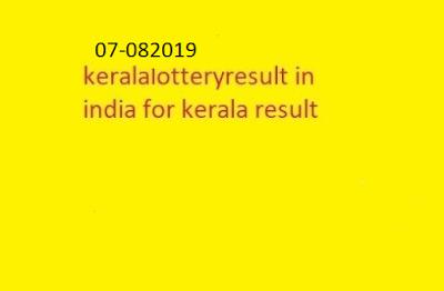 nirmal lottery sthree sakthi lottery result 2019-08-07