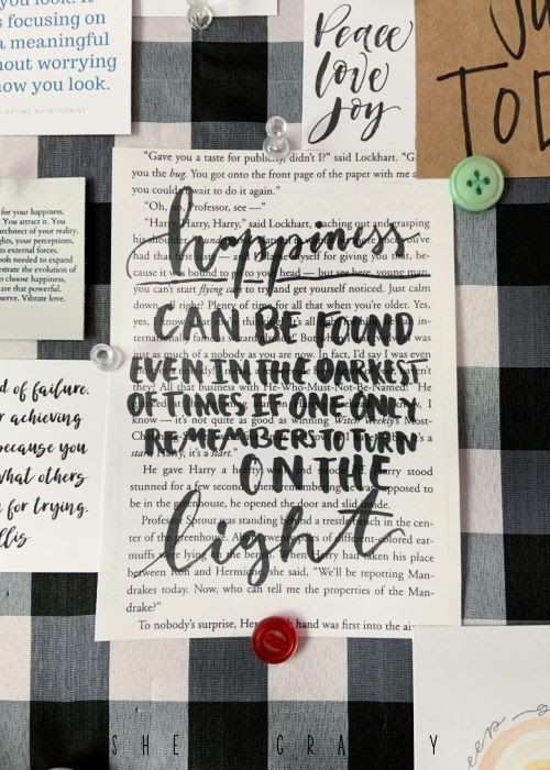 How to Create a Vision Board - gather quotes that inspire you