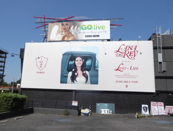 Lana Del Rey Lust for Life billboard