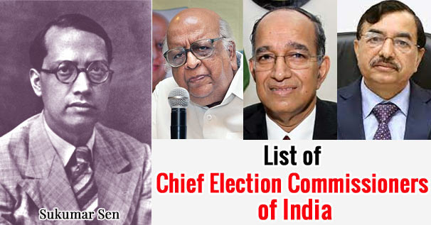 List of Chief Election Commissioners of India Since 1950 to 2021