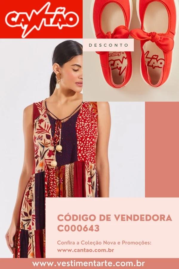 Código de vendedora Cantão (C000643) para desconto no site