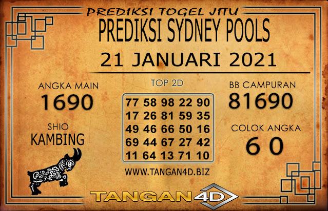 PREDIKSI TOGEL SYDNEY TANGAN4D 21 JANUARI 2021