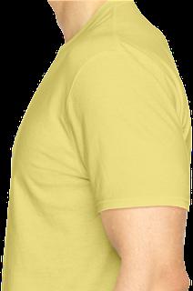 mentahan kaos polos png kuning muda tampak samping