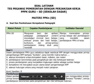 soal test pppk ppkn sd