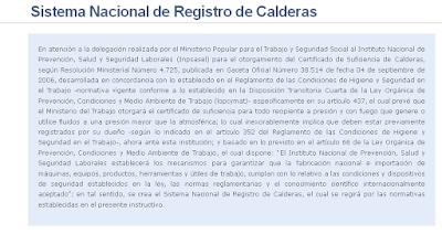 Registro nacional de calderas