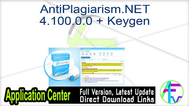 AntiPlagiarism.NET 4.100.0.0 + Keygen