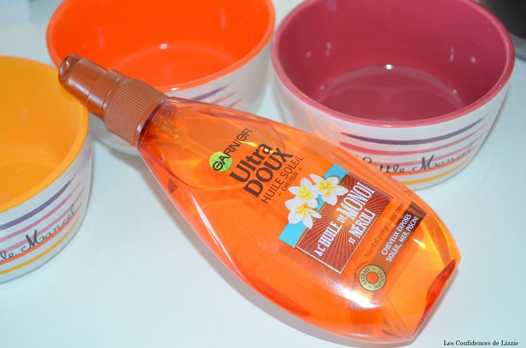 huile de monoi - huile de neroli - soin capillaire - protecteur solaire - protecteur cheveux solaire - huile pour les cheveux - huile pour proteger les cheveux du soleil