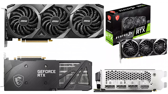 MSI-GeForce-RTX-3060-Ventus-3X-12GB-OC-Front-Top-Back-Side-Box-IO-view