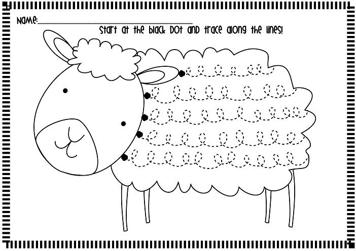 classroom freebies spring lamb handwriting fluency worksheets. Black Bedroom Furniture Sets. Home Design Ideas