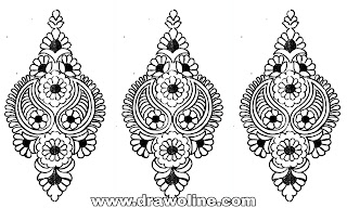 hand embroidery butta designs/embroidery butta sketch/pencil drawing butta design for embroidery