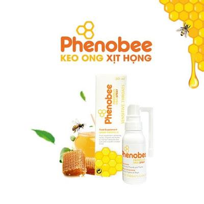 Keo ong xịt họng phenobee việt nam