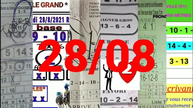 Pronostics quinté+ pmu samedi Paris-Turf-100 % 28/08/2021