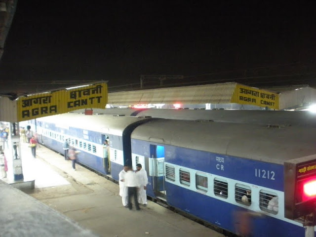 Train from Agra to Delhi